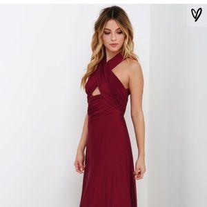 Burgundy Always Stunning Convertible Maxi Dress
